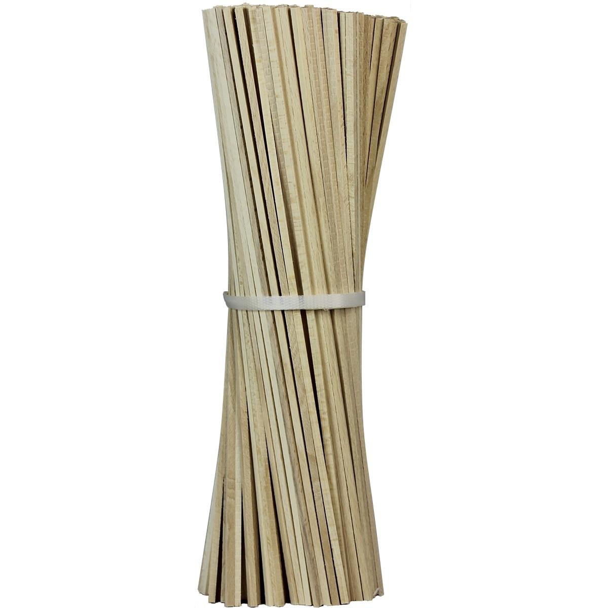 Lot de 100 bâtons en bois pour barbe à papa - 35 cm