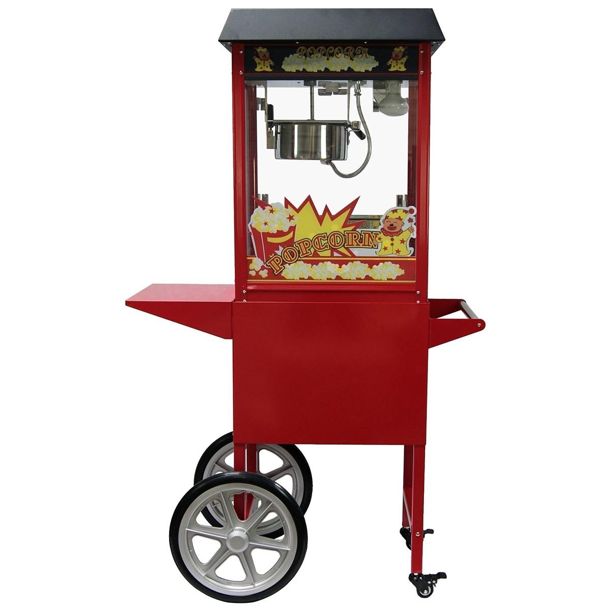 machine pop corn professionnelle avec chariot machines pop corn. Black Bedroom Furniture Sets. Home Design Ideas