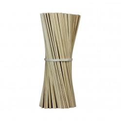 Lot de 100 bâtons en bois pour barbe à papa - 28 cm